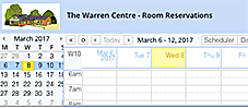 calendar of bookings